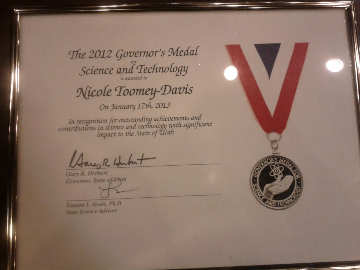 Governor's S&T Medal