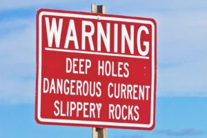 Warning Sign - Deep Holes