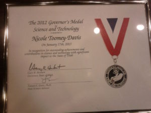 Nicole Toomey Davis 2012 Governor's Medal