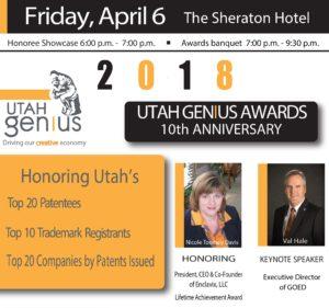 Utah Genius Awards Flyer 2018