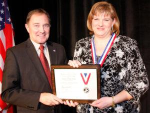 Nicole Toomey Davis and Governor Herbert