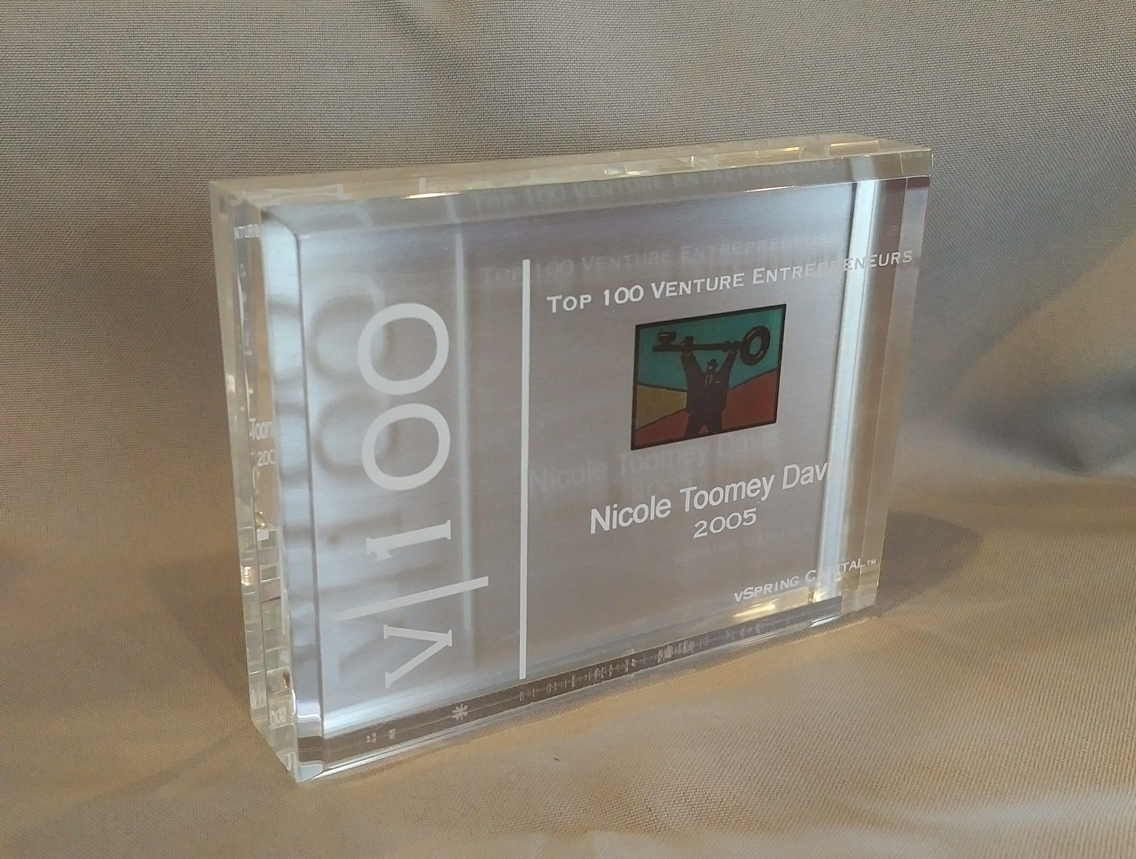 vSpring Top 100 Venture Entrepreneurs 2005 Nicole Toomey Davis