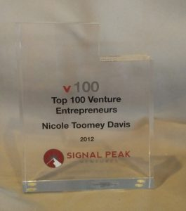 Signal Peak v100 Top 100 Venture Entrepreneurs 2012 Nicole Toomey Davis