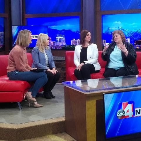 Nicole, Cydni, Kami and Nicea on ABC4Utah