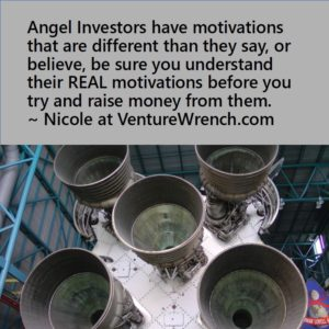 Angels have motivations different than they say.