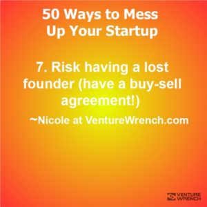 50 Ways to Mess Up #7 Risk having a lost founder